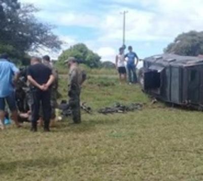 Militares se accidentan en Yby Yaú