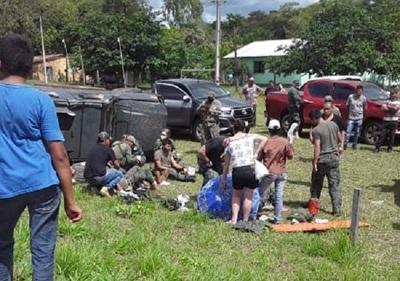 Vuelco de vehículo militar deja un herido de gravedad en Yby Yaú