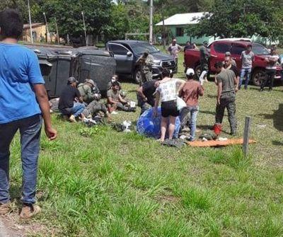 Camión blindado vuelca en Concepción: hay un militar herido