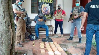 Detienen a un hombre con 14 kilos de cocaína
