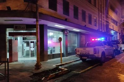 Denuncian hurto de cámara de seguridad en sucursal del banco Atlas