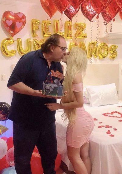 ¡Tremendo pastel! El Gobernador de Alto Paraná celebró su cumpleaños al lado de su joven pareja