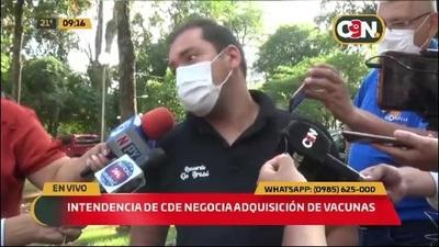 Intendencia de CDE negocia adquisición de vacunas Chinas anticovid-19
