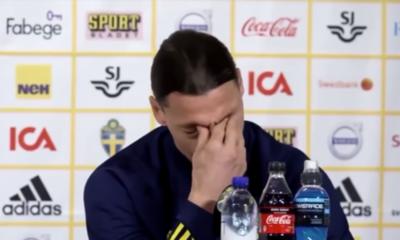 Ibrahimovic, emocionado hasta las lágrimas en su regreso a Suecia