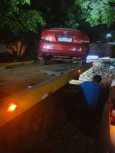 Exceso de alcohol provoca accidente en el barrio Obrero de Ciudad del Este