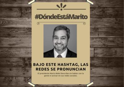 #DondeEstaMarito: Critican el silencio de Abdo, en medio de la crisis sanitaria que golpea sin tregua al país
