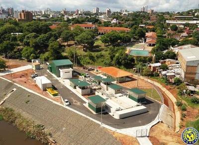 Asunción inaugura la primera planta de tratamiento de aguas residuales •