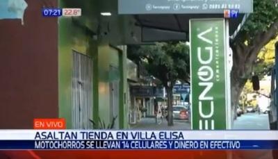 Malvivientes se llevan mercaderías por millonario valor en Villa Elisa