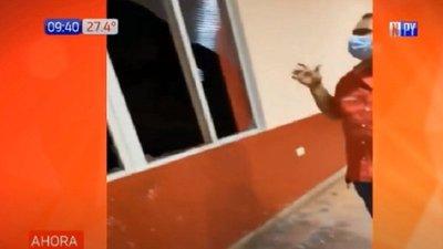 Colorados indignados por rotura de vidrio de Seccional durante detención de jefe de PCC