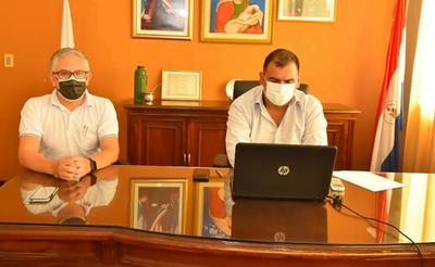 Caazapá: Gobernador participó en importante videoconferencia con autoridades