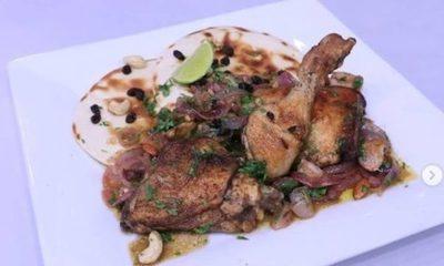 Pollo a la Palestina y Pan Coquito