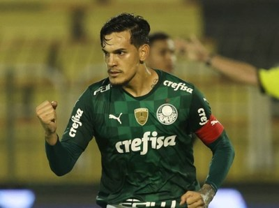 Gustavo Gómez anota para Palmeiras en Brasil
