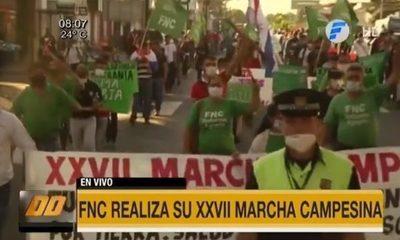 FNC realiza su XXVII marcha campesina
