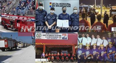 BOMBEROS DE ENCARNACIÓN, 41 AÑOS DE SERVICIO.