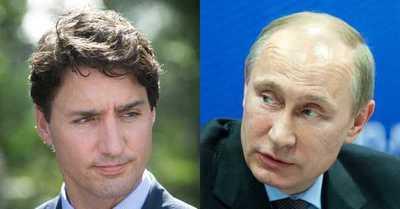 "Justin Trudeau disparó contra Vladimir Putin: ""Es responsable de todo tipo de cosas terribles"""