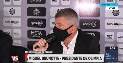 Brunotte responde a Cerro sobre el 'robo' de talentos