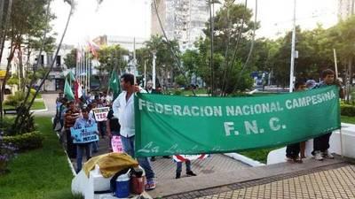 Campesinos marchan contra la injusta distribución de la tierra en Paraguay