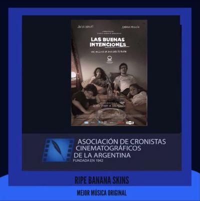 """Ripe Banana Skins gana Cóndor de Plata por la música original de """"Las buenas intenciones"""""""