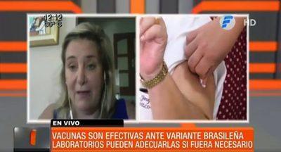 """Dra. Russomando: """"Vacunas son efectivas ante la variante brasileña"""""""