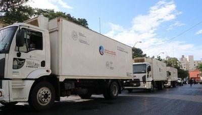 La empresa de transporte NSA puso a disposición su flota de vehículos para colaborar con la logística de vacunas (también Petrosur y Protek)