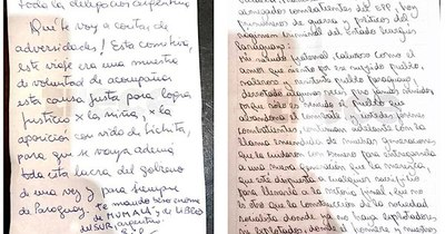 """La Nación / Cartas de Carmen Villalba hablan de """"estado criminal"""" y """"echar al gobierno"""""""