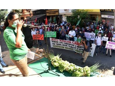 Marcha campesina  repudia pacto de impunidad entre los colorados