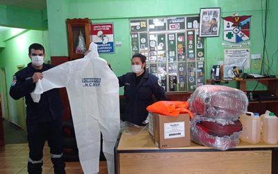 Bomberos de Franco reciben donación