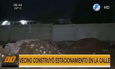 Vecino amuralló una calle en San Lorenzo