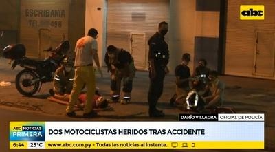 Tras accidente, dos motociclistas resultaron heridos