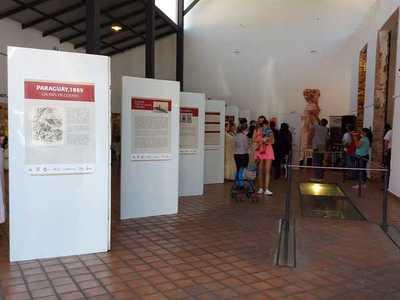 """Hasta las 13:30 de hoy se puede visitar muestra """"Paraguay 1869, un País en Guerra"""