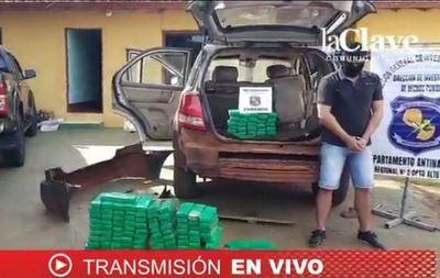 Incautan más de 135 panes de marihuana y detienen a presunto traficante