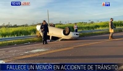 Adolescente de 13 años fallece en accidente rutero