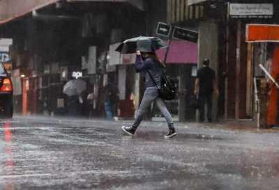 Aviso meteorológico: lluvias con tormentas eléctricas moderadas desde el sur