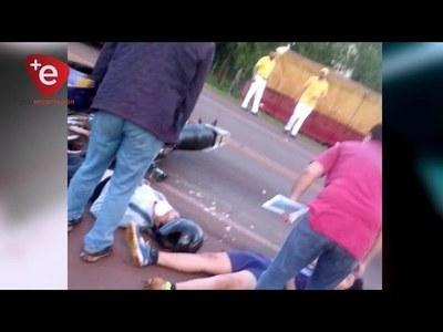 CHOQUE ENTRE MOTOCICLISTAS DEJÓ DOS HERIDOS EN CAPITÁN MIRANDA