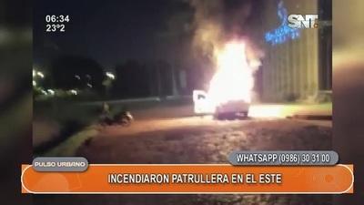 Incendiaron patrullera en el este