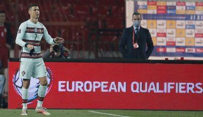 Portugal pierde dos puntos ante Serbia y le negaron un gol legítimo a CR7