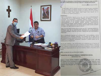 Pedro Roberto Pérez asume la Dirección de Coordinación de Regiones Sanitarias del Ministerio de Salud