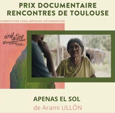 """""""Apenas el sol"""", de Aramí Ullón, conquista importantes premios en el Festival de Cine Latinoamericano de Toulouse"""