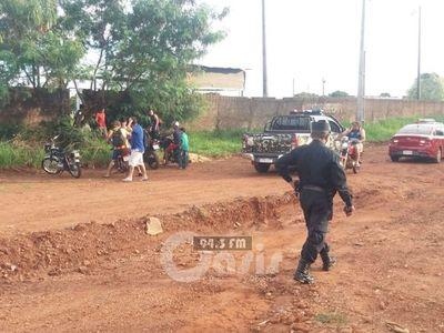 OPERATIVO DESPEJE REALIZADO POR LA POLICÍA EN AMAMBAY