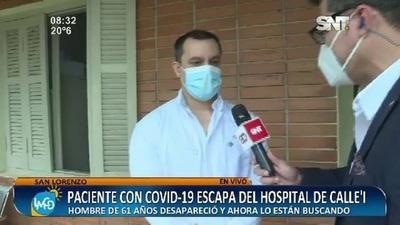 Paciente con COVID19 escapó del Hospital de Calle'i
