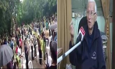 Pa'i de Capiatá es blanco de cuestionamientos tras celebración de domingo de ramos aglomerado