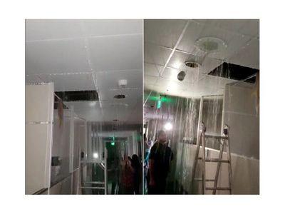 Oficinas judiciales de CDE quedan inundadas por pérdida en ductos