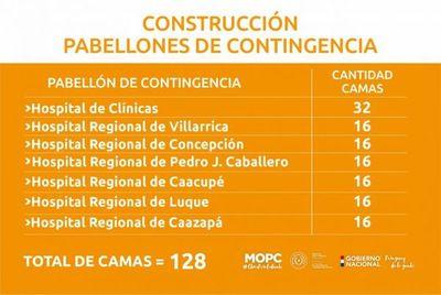 Emergencia COVID-19: MOPC licita por vía de la excepción construcción de nuevos pabellones para 128 camas de UTI