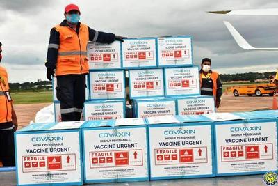 Llegaron 100.000 dosis de vacunas donadas por la India •