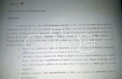 Caso reguladas: Fiscalía solicita informes al MOPC en proceso abierto por violación de la cuarentena