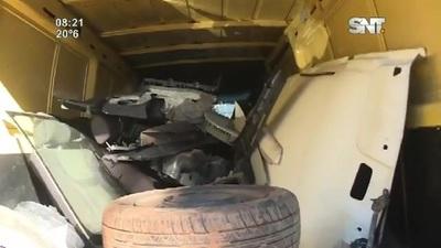 """Recuperan vehículo robado en menos de 24 horas pero ya """"Carneado"""""""