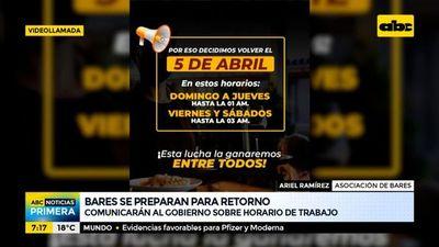 Bares comunican decisión unilateral de abrir hasta la 01:00 y las 03:00