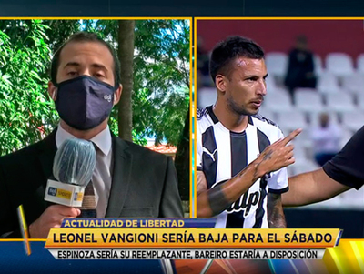 ¿Llega Vangioni a punto para el juego con Olimpia?
