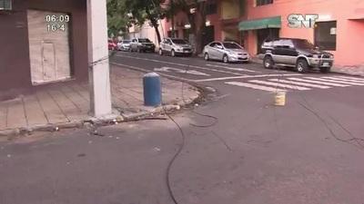 Cables sueltos sobre Coronel Panchito López y Dr. Emiliano Paiva