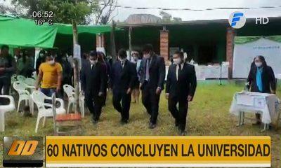 Una buena noticia: 60 nativos concluyen la universidad en Concepción